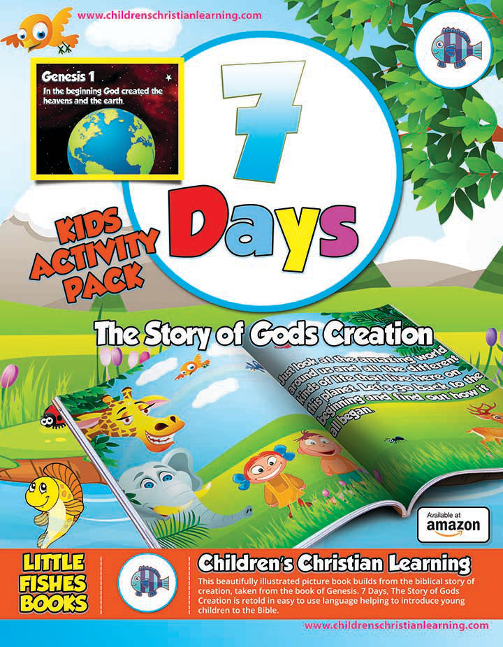 Download this free 7 Days The Story of Gods Creation Activity Pack! the pack includes colouring pages, word search and more!