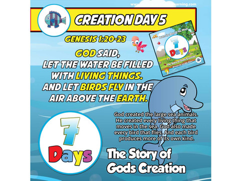 7 Days - The Story of God's Creation - Day 5 - Little Fish Swim, Birds Fly - Family Devotional