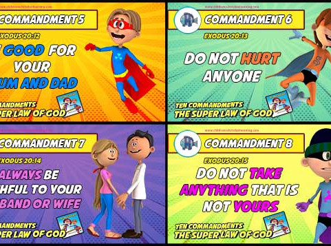 Teaching Children The Ten Commandments - Memory Cards - Free Download and Print