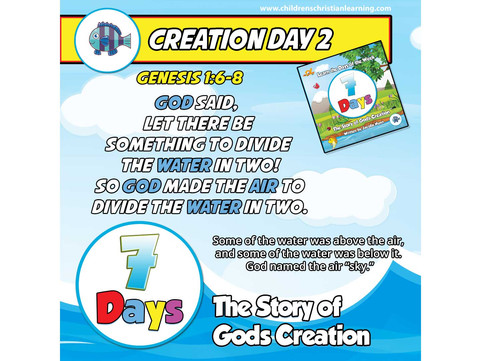 7 Days - The Story of God's Creation - Day 2 - Air Above, Water Below - Family Devotional