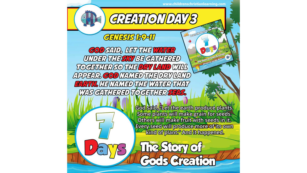 7 Days - The Story of God's Creation - Day 3 - Land, Plants and Fruit - Family Devotional