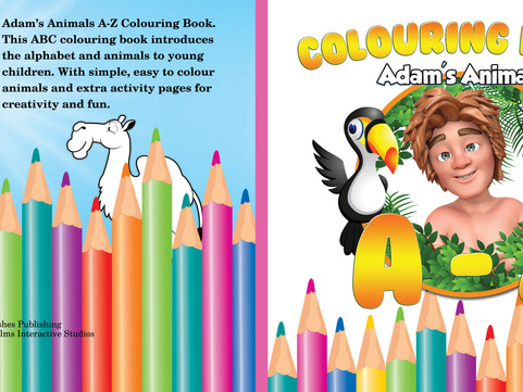 SIMPLE, EASY TO COLOUR ANIMALS AND ACTIVITY PAGES FOR FUN - Adam's Animals A-Z Colouring Book