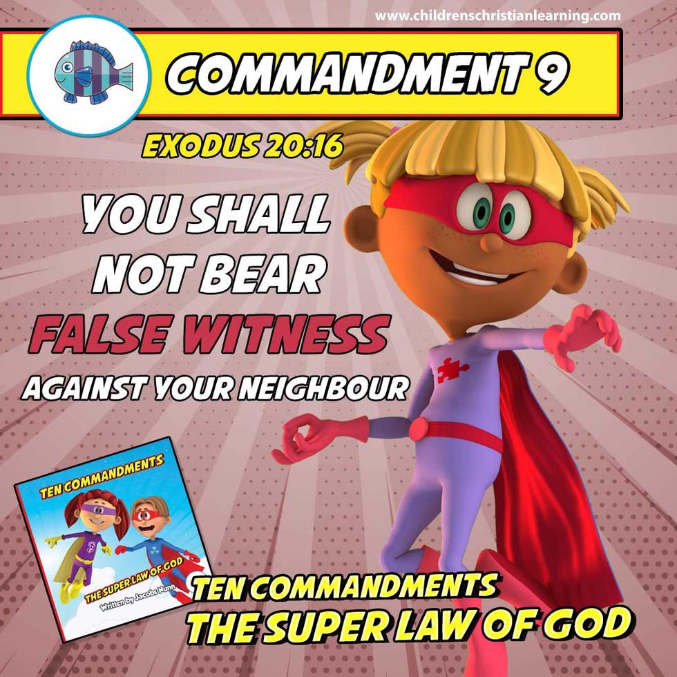 The Ten Commandments - The Super Law of God - Commandment 9 - Family Devotional