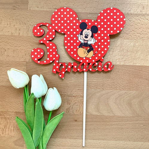 TOPPER CAKE MOUSE RED MEDIANO