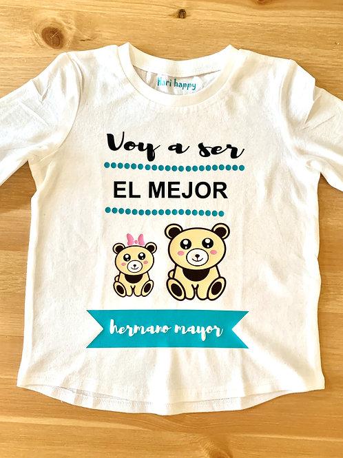"Camiseta little Bear "" mejor hermano"" ( manga larga)"