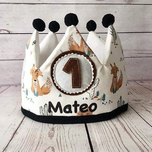 Corona cumpleaños foxy (estampada)