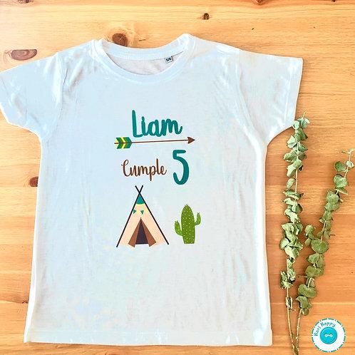 Camiseta personalizada cumpleaños tipis
