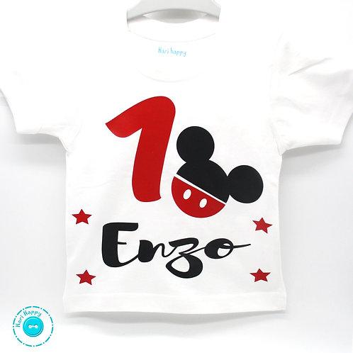 Camiseta personalizada cumpleaños ratón