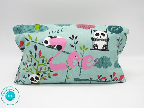 Portapañales y toallitas pandas/ estampados rosa personalizada