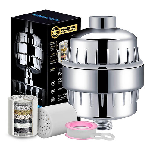 Hard water universal filter with cartridge and box