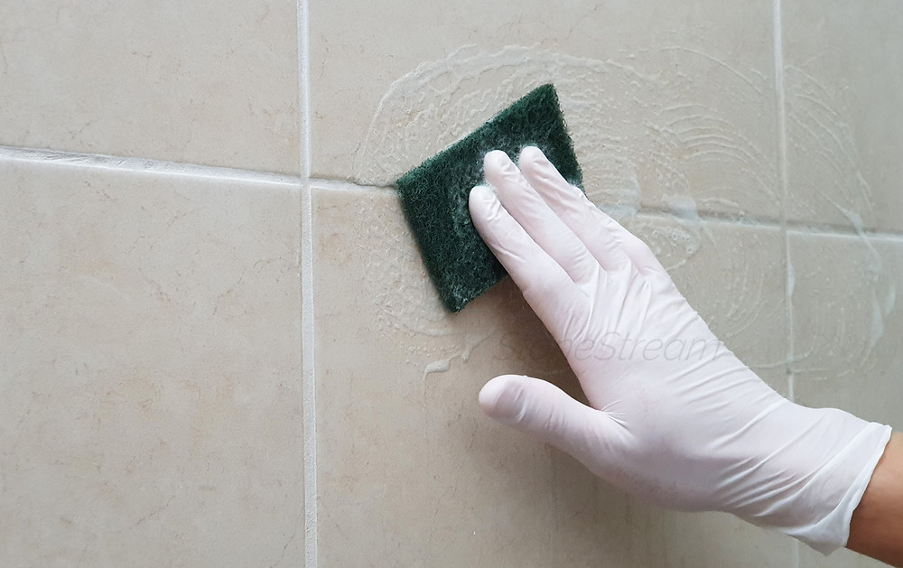 How to clean your shower tiles grout