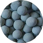 Anion grey mineral filtering stone