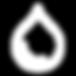 Water drop icon white