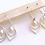 Thumbnail: TWIGG Flapper Deco Pearl Earrings