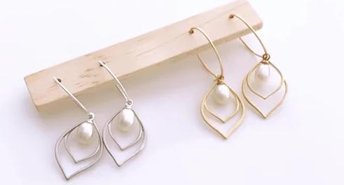 TWIGG Flapper Deco Pearl Earrings