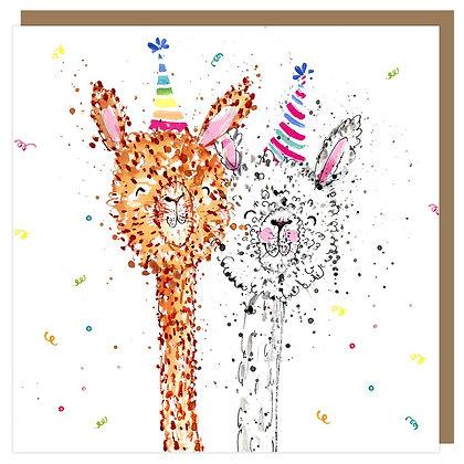 """EMKO """"Party Alpacas"""" Card"""