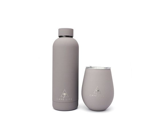CAYELIFE Thermo Mug and Water Bottle Gift Pack