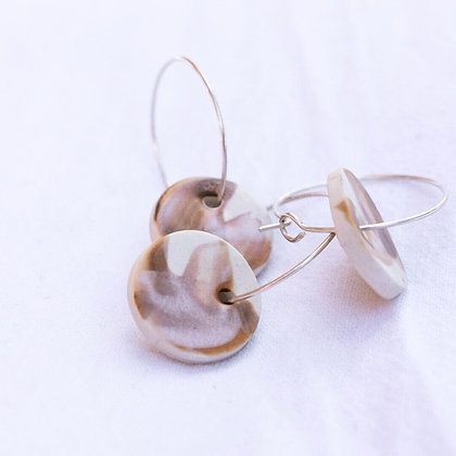 OCHRE Seashell Hoops