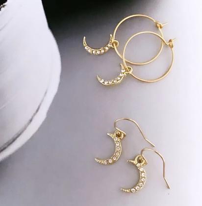 TWIGG Crescent Moon Earrings