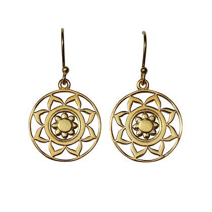 OCEAN MANTRA Mandala Medallion Earrings
