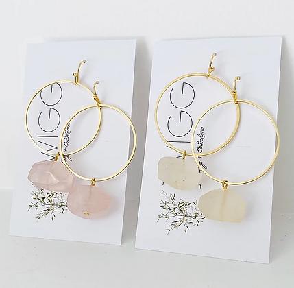 TWIGG Rose Quartz Earrings