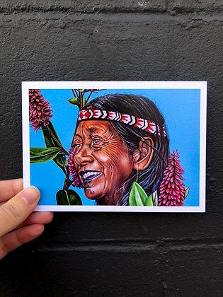 "SIERRA ROBERTS ART ""The Koromuka Field"" Postcard"