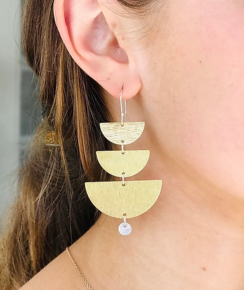 TWIGG Crescent Layered Earrings