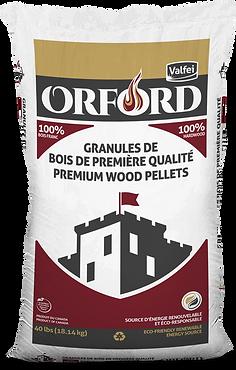 Orford wood pellet bag