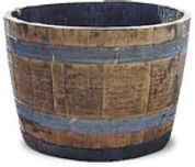 Half Whiskey barrel