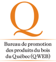 Bureau de promotion des produits du bois du Québec (QWEB) Logo