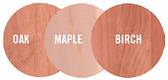 wood essences maple oak birch