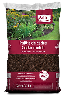 Valfei Brown Cedar Mulch bag