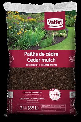 Valfei Brown Cedar Mulch bag
