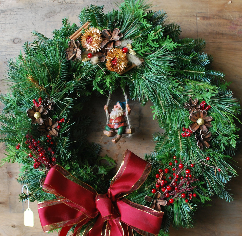 Premium decorated Christmas wreath