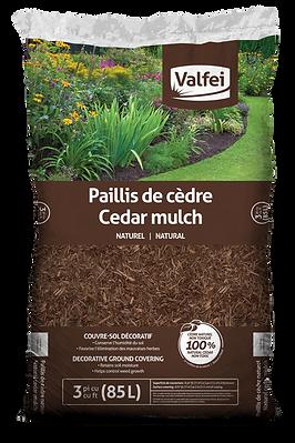 sac de paillis de cèdre naturel Valfei