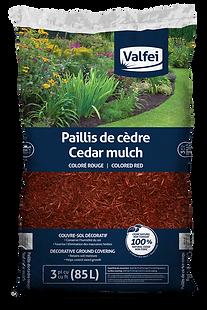 sac de paillis de cèdre rouge Valfei