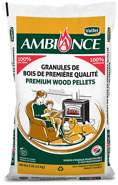 Ambiance bag of wood pellets