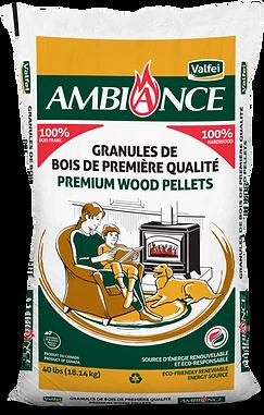Ambiance bag of wood pellets