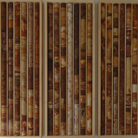 Core Samples, triptych