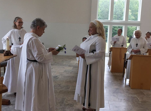 Novice Clothing at The Order of St. Helena