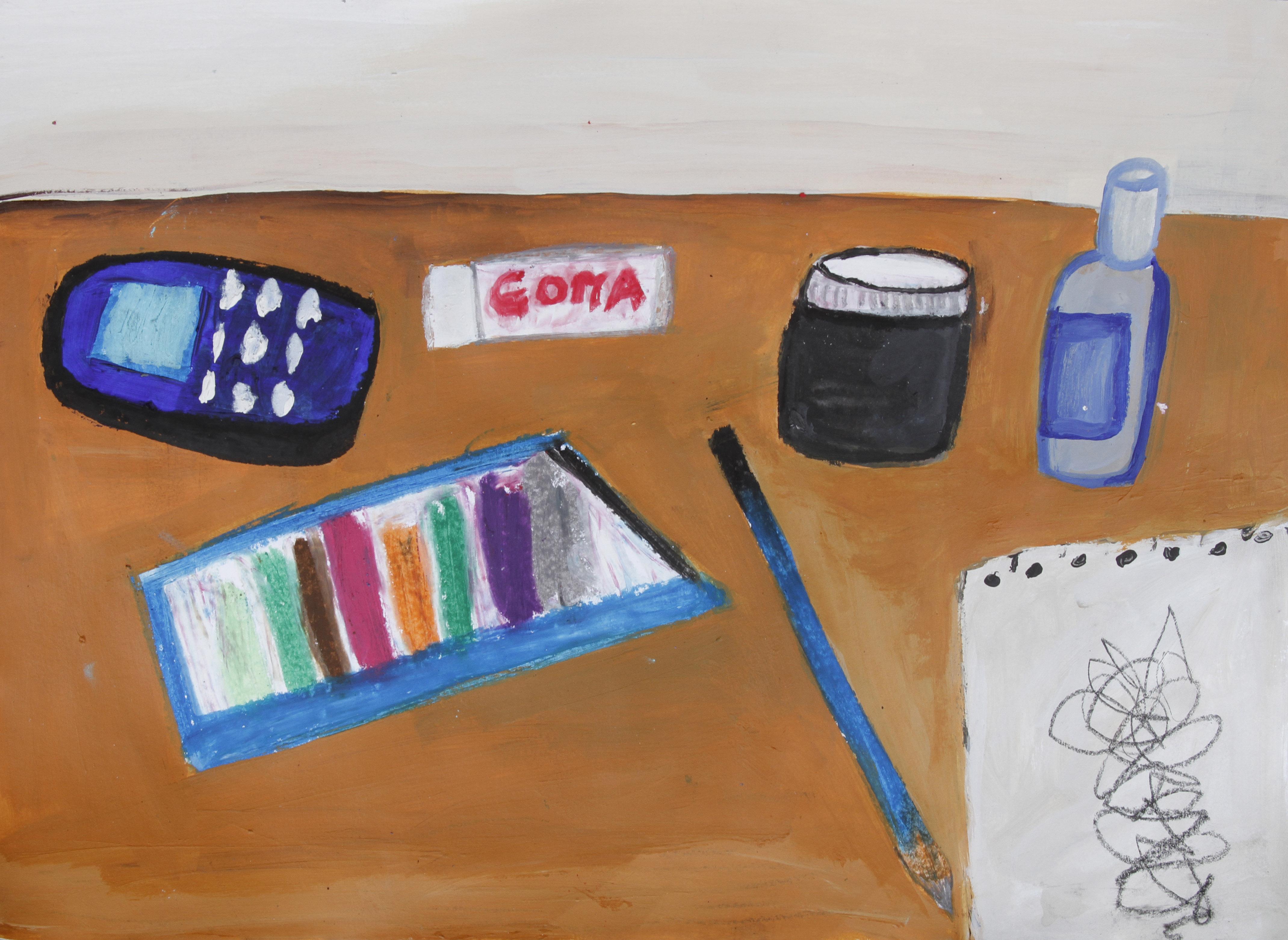Mi escritorio.