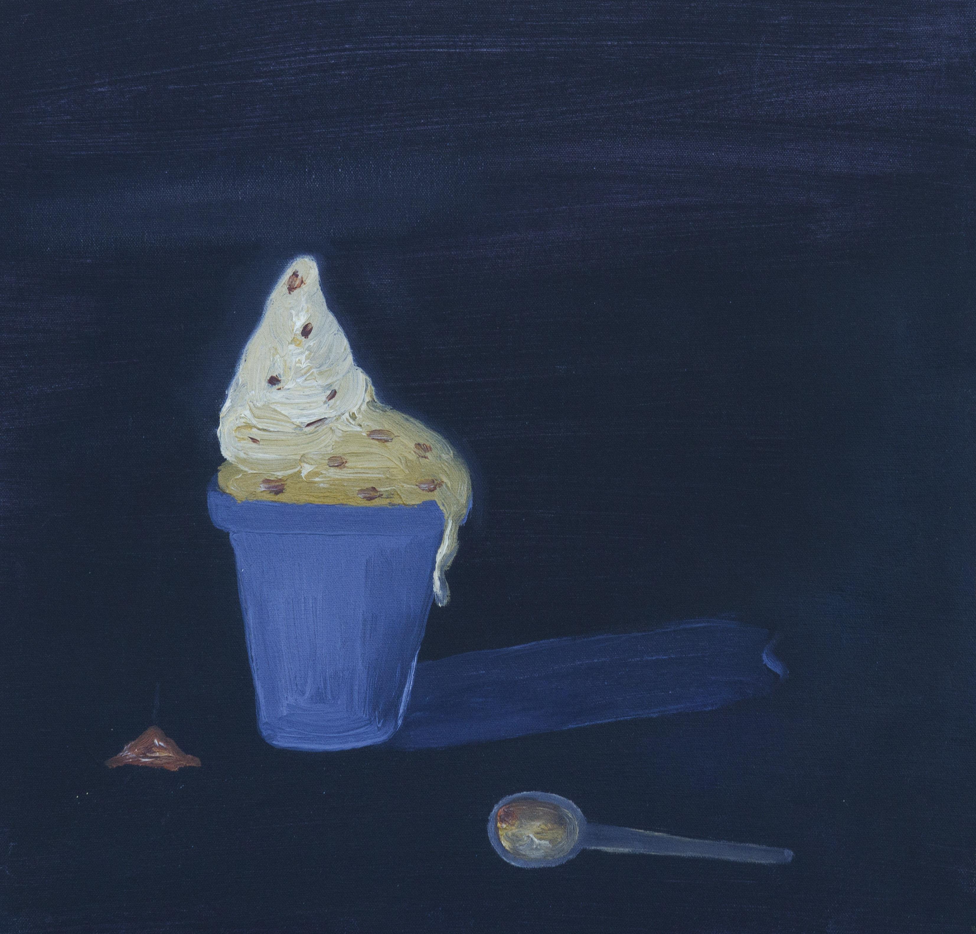 El helado.