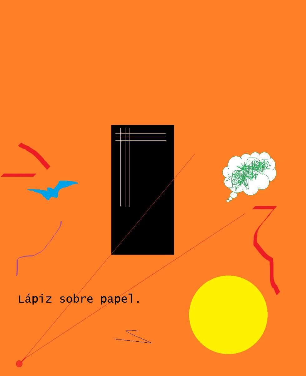 Lápiz sobre papel.