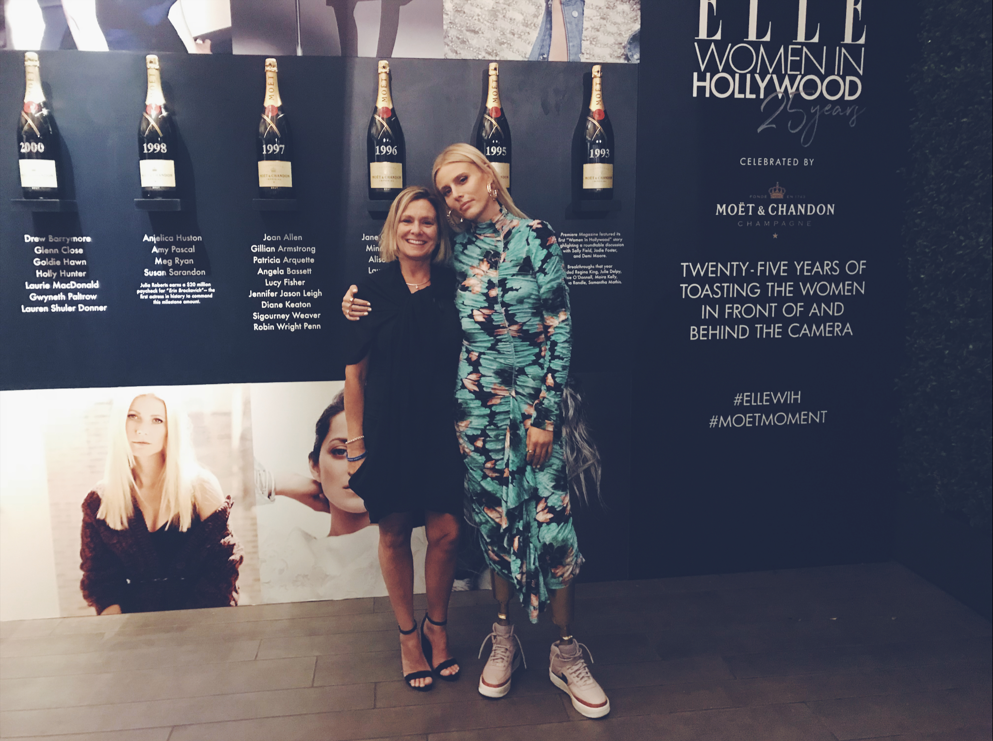 Dawn and Lauren Wasser network at Elle r
