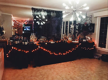 Halloween fundraiser setting
