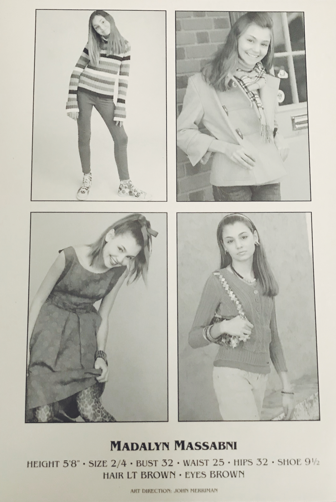 Maddy's modeling work (early years)
