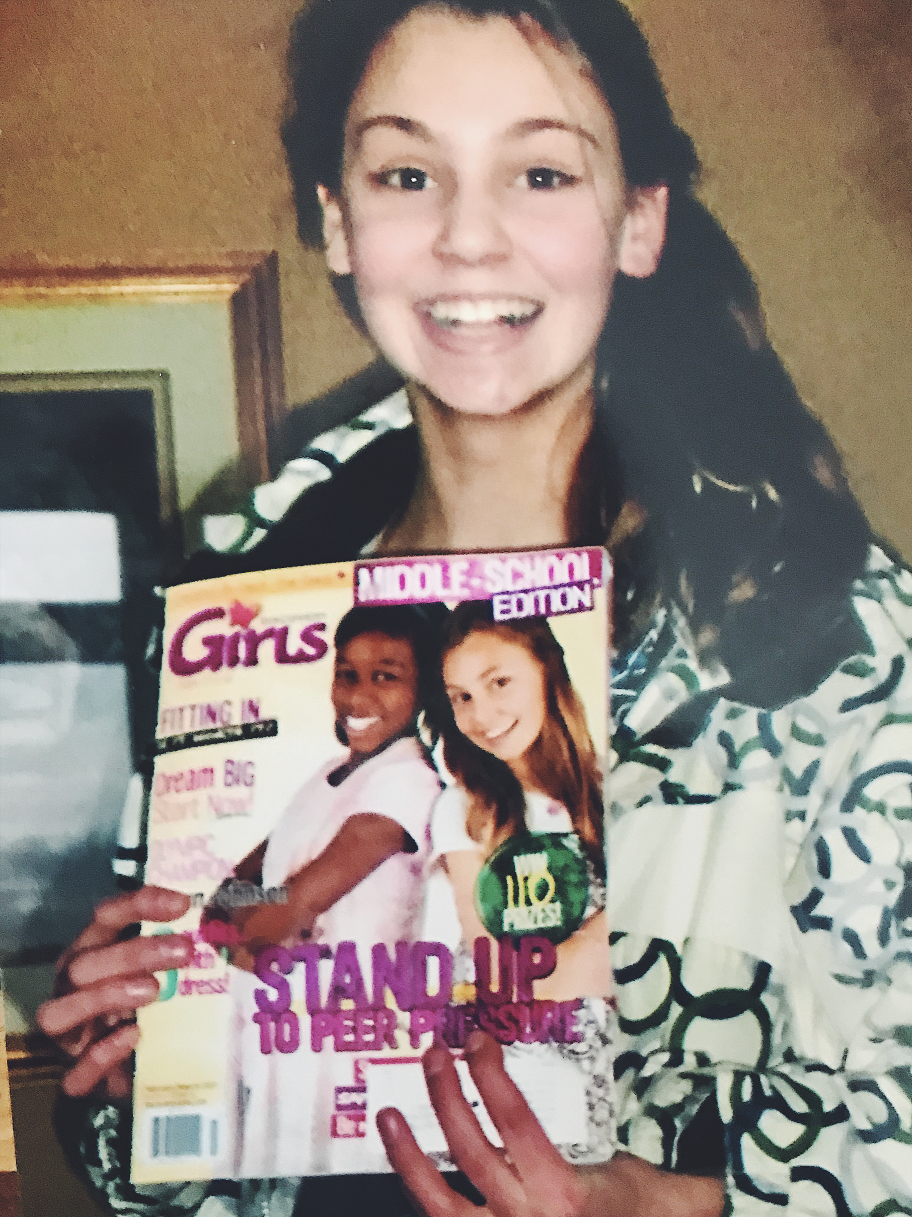 Maddy on the cover of Girls magazine