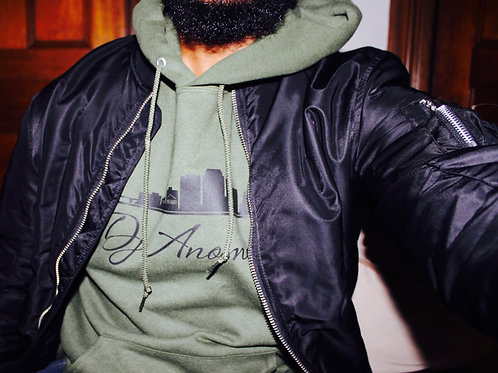 Military Green Fleece Pullover Hoodie