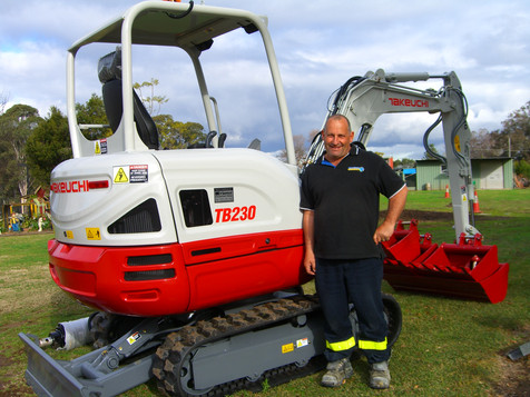 Steve loves his Takeuchi excavator