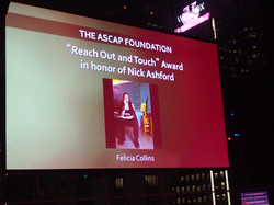 Felicia Collins ASCAP Award
